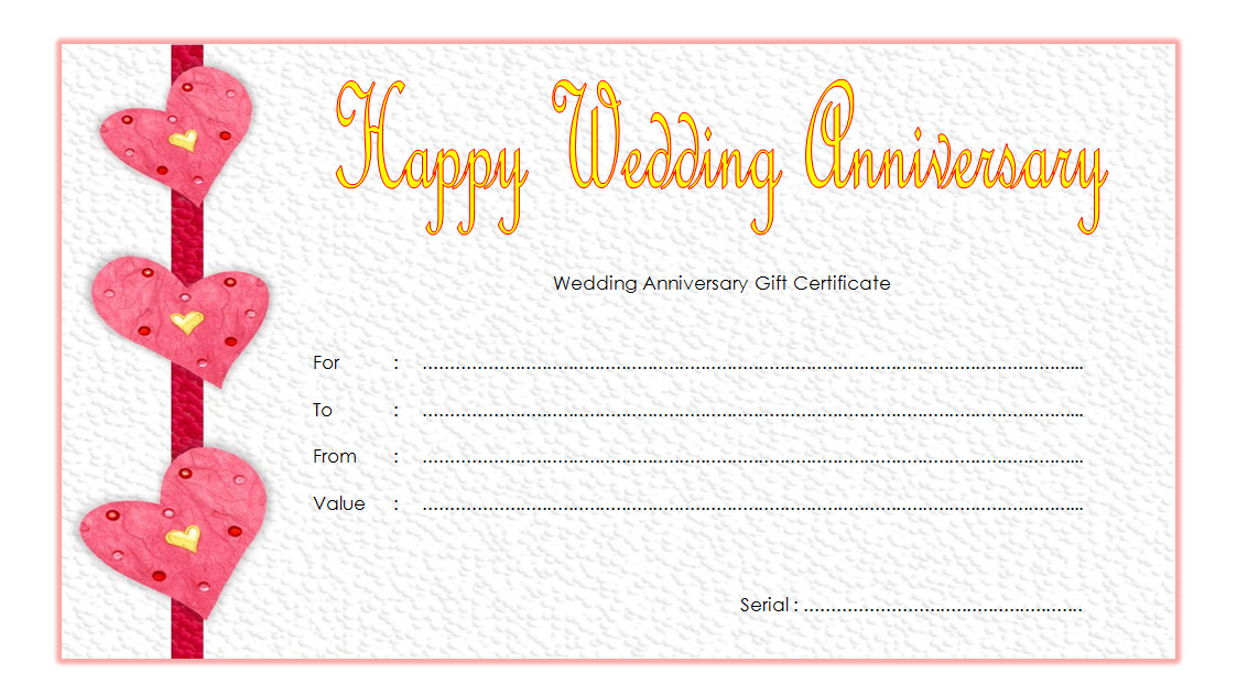 happy anniversary gift certificate template free 2