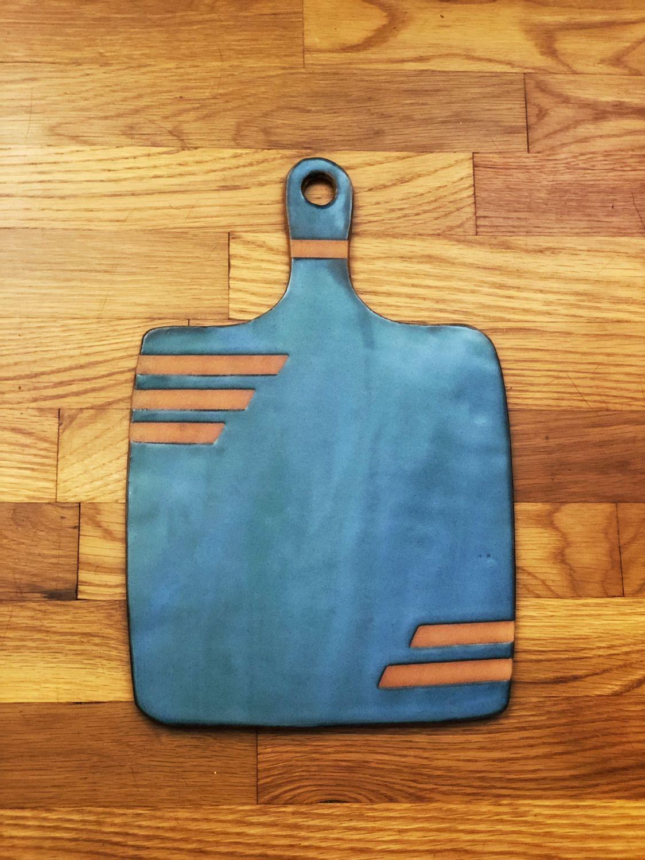 Ceramic pottery cheese board