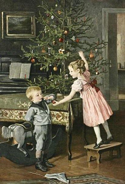 Vintage christmas children. Marie (Mizzi) Wunsch (1862 – 1898 ...