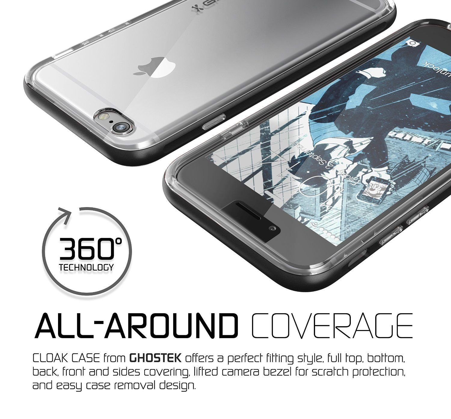 Made with a slim crystal clear full TPU body and an aluminum frame ...