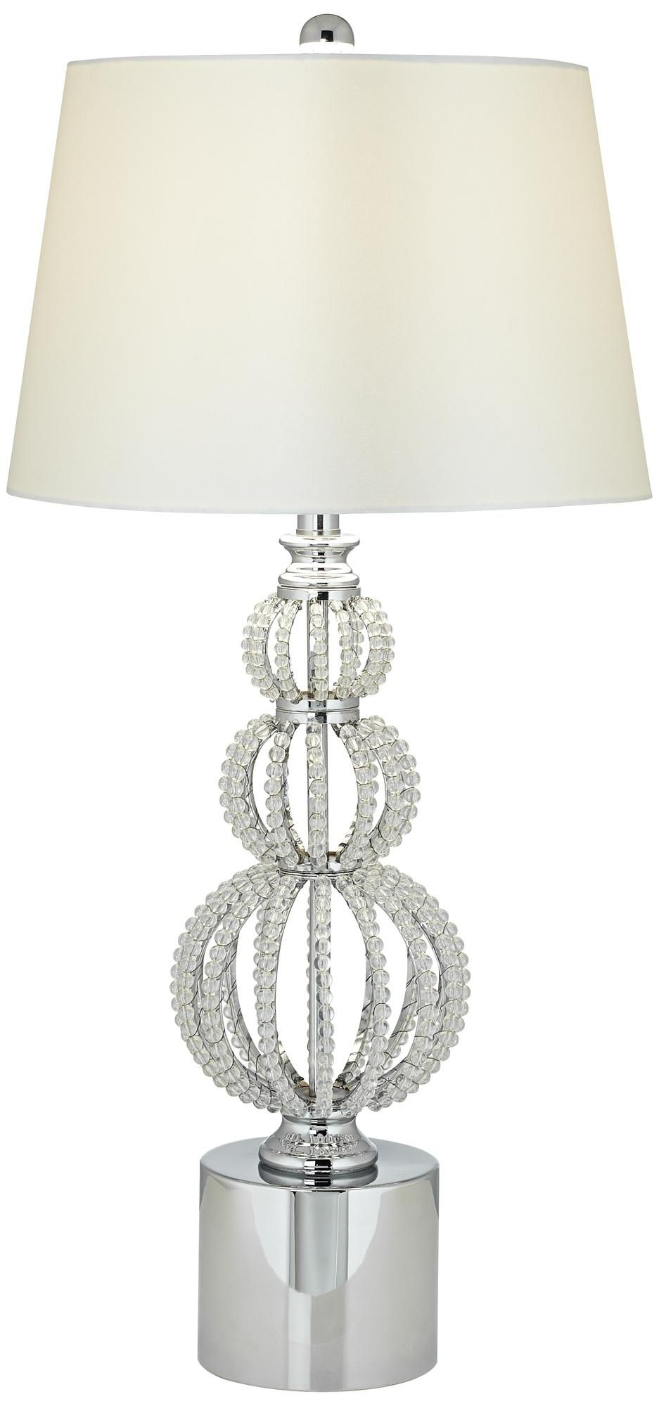 Beaded Stacked Spheres Crystal Table Lamp Crystal Table Lamps