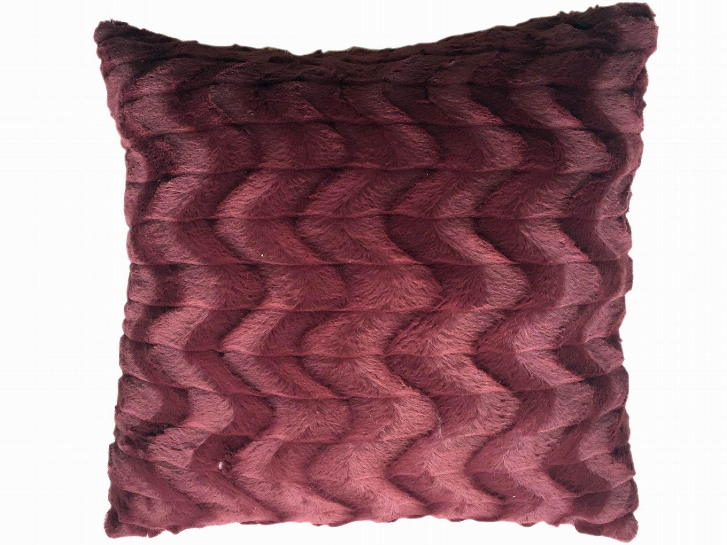 Cannon 20†x 20†Fur Decorative Pillow - Burgandy, Red ...