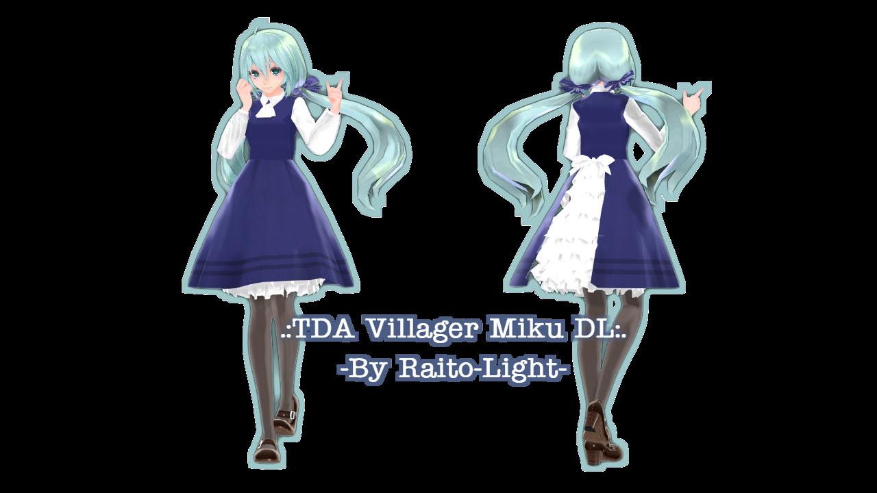 100 WATCHERS REGALO!  .: TDA Villager Miku DL :.  por Light-luz