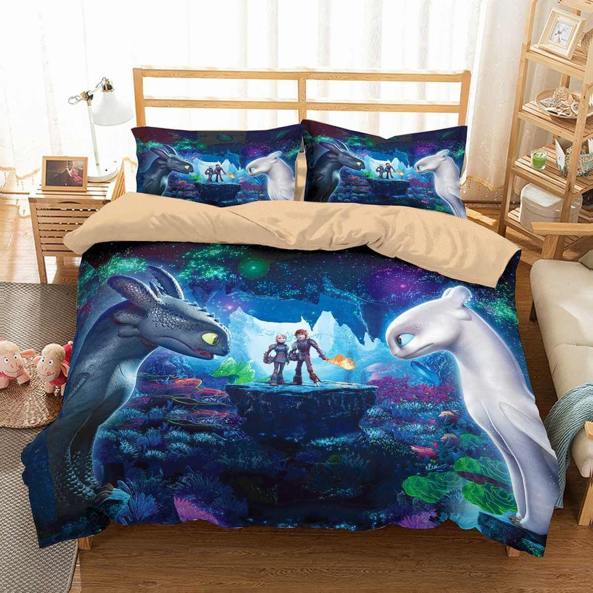 The Vampire Diaries Bettwäsche 3d Customize How To Train Your Dragon Bedding Set Duvet Cover Set