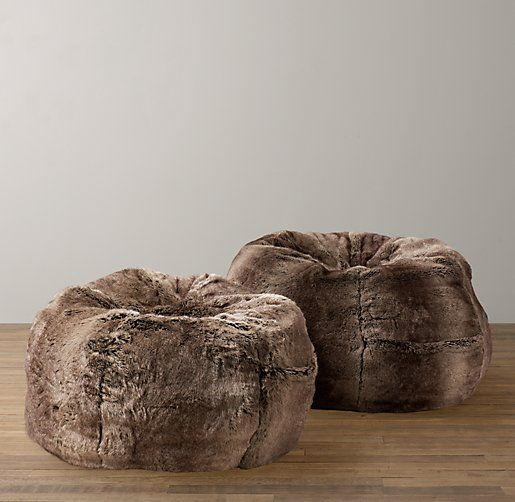 Luxe Faux Fur Bean Bags Great Way To Add Style And Texture While Keeping A Room Neutral