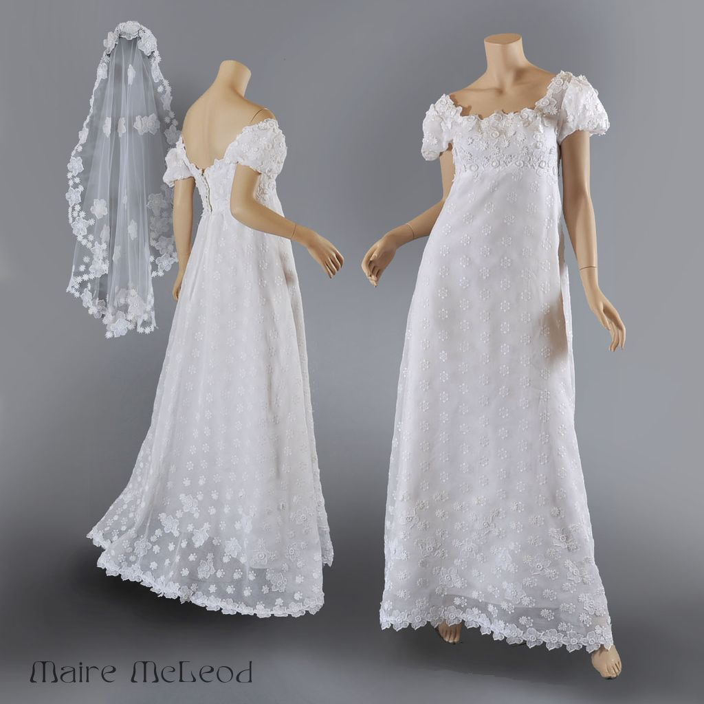 Vntg Priscilla of Boston 1960\'s Wedding Gown w / Veil S-M | Bridal ...