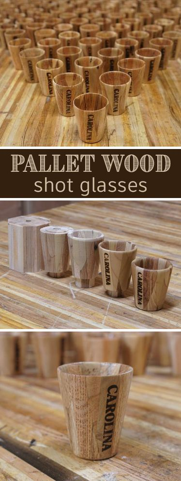 Pallet Wood Shot Glasses (100 of Them!) | Woodworking | Wood turning