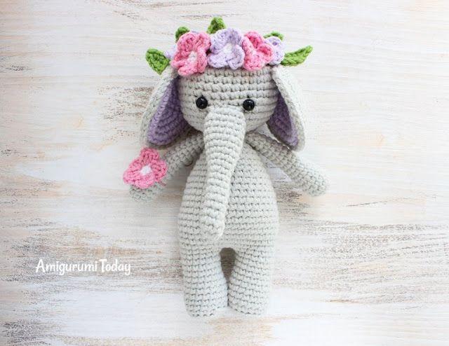 Pin de Irina Belova en Амигуруми | Pinterest | Elefantes, Artesanía ...