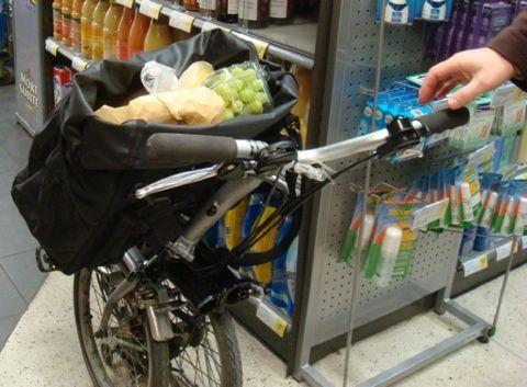 Biking On A Brompton Ii Shopping Brompton Folding Bike Bike