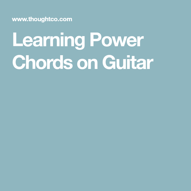 Learning Power Chords on Guitar