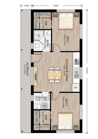 Pin By Ririn Lestari On Nz Tiny Homes Narrow House Plans Tiny House Floor Plans Rectangle House Plans