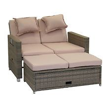 greemotion bahia twin bett sofa liege gartenmöbel grau bicolor, Gartenmöbel