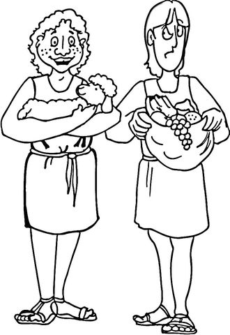 Cain And Abel Bible Coloring Pages Cain And Abel Bible Crafts
