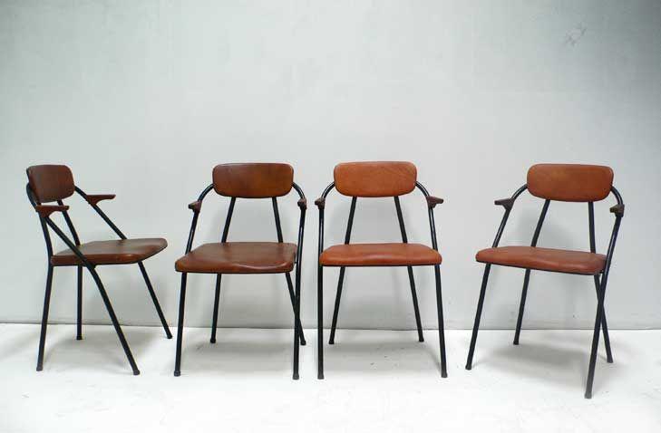Pleasing Vintage Cosco Styline Folding Chairs With Custom Elather Creativecarmelina Interior Chair Design Creativecarmelinacom