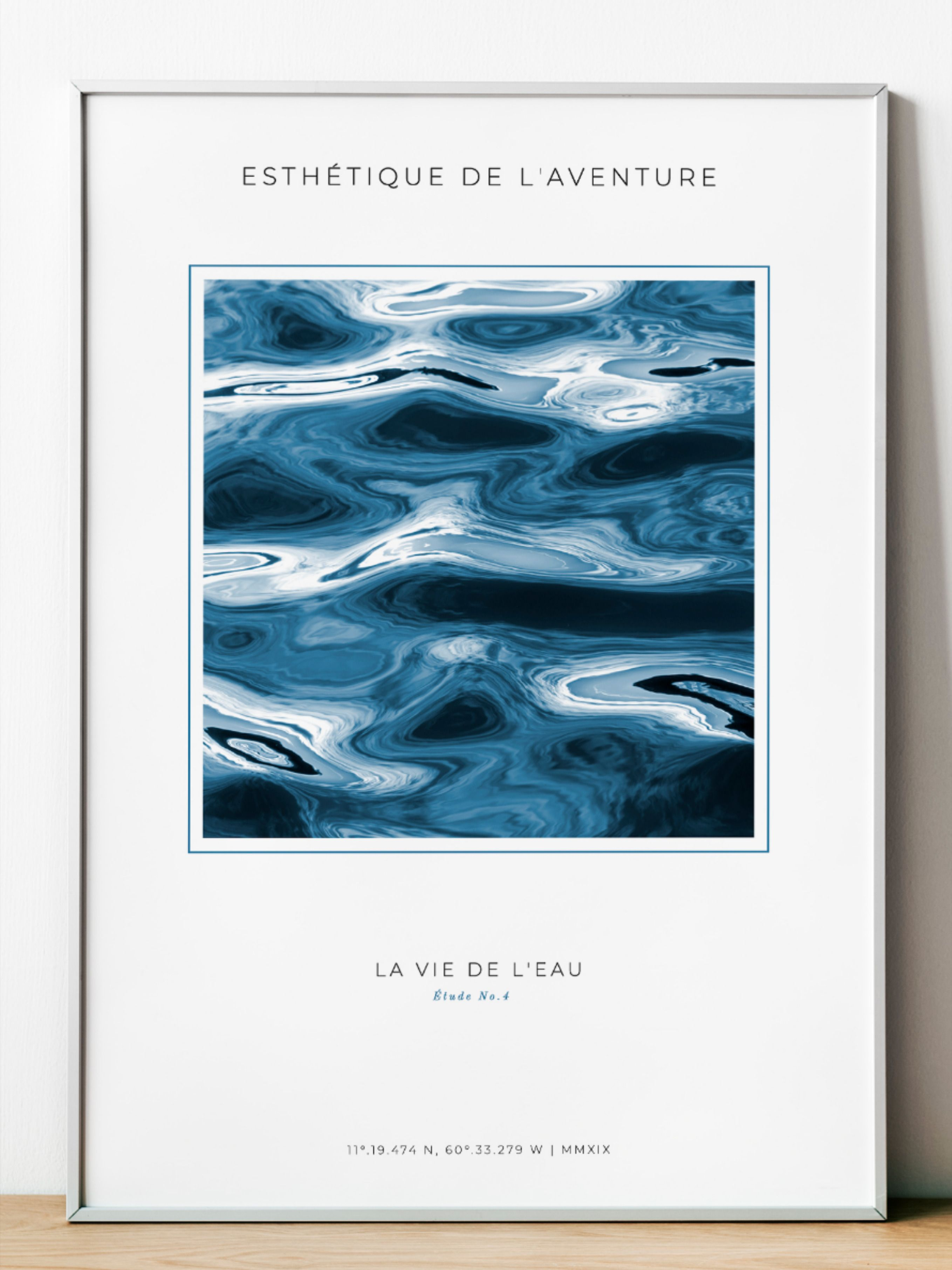 Esthétique de l'aventure. The Aesthetics of Adventure. This is a new collection where wind meet waves in an eternal improvisation. These are subtle glare, sudden flashes and bizarre bends. It is an abstraction of neutral colors and the muted tones of Natural Fractal Patterns. Fractal Patterns in Nature and Art Are Aesthetically Pleasing and Stress-Reducing. #NeutralAbstract #NaturalPatterns #ExibitionPoster #MuseumPoster #NeutralColor #BlueDecor #ColorTrends2021 #OrganicArt #PantoneClassicBlue