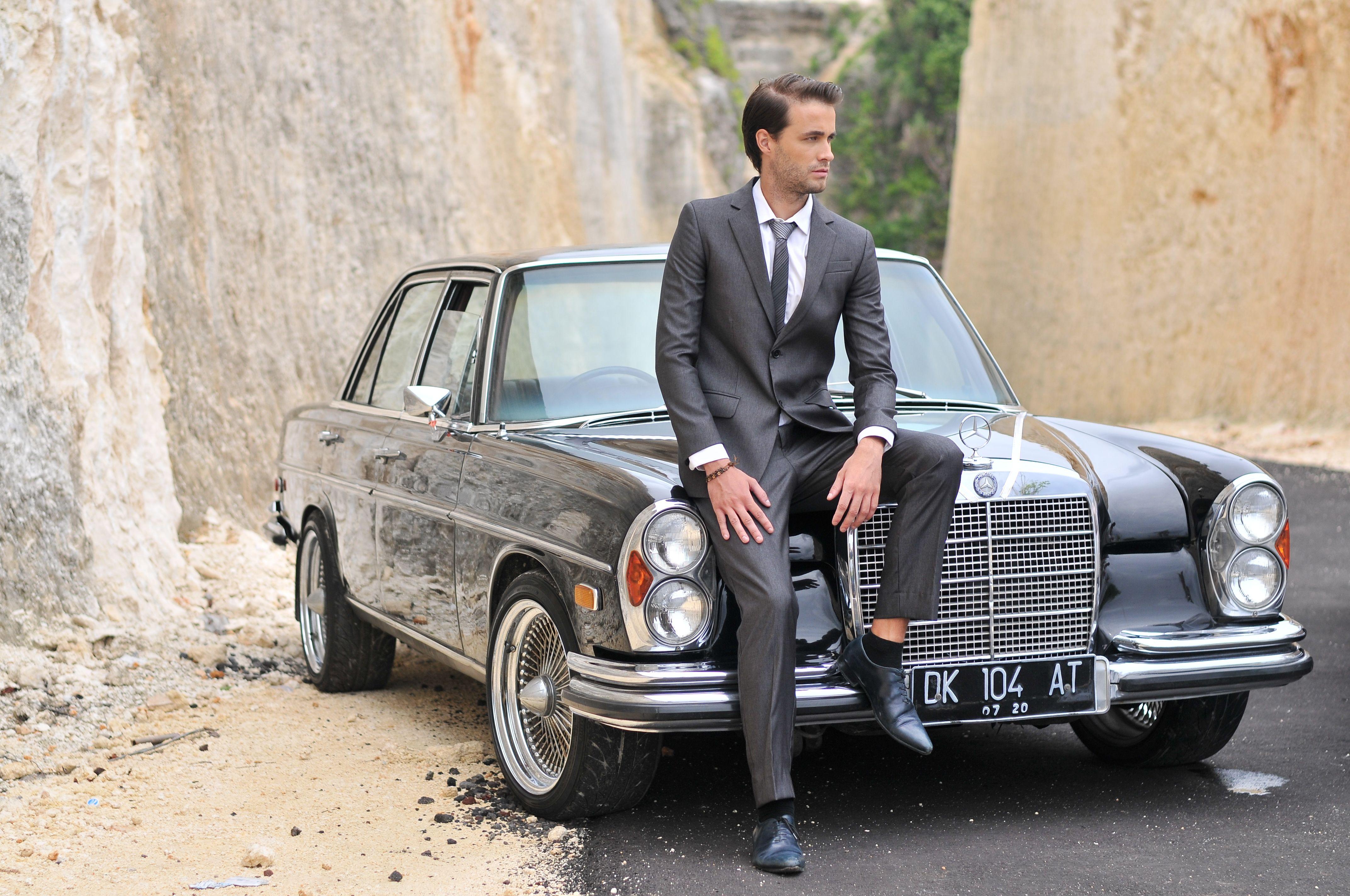 Classic car shoot in bali wedding car classic cars