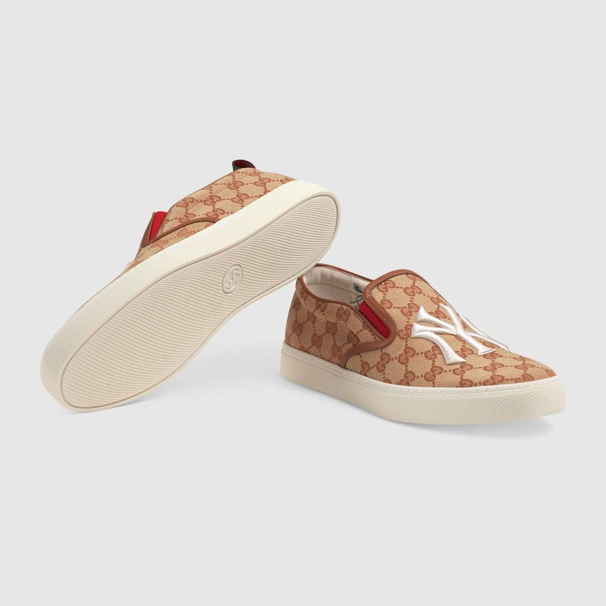 82a9867d8d816 GUCCI Men s slip-on sneaker with NY Yankees patch™.  gucci  shoes ...