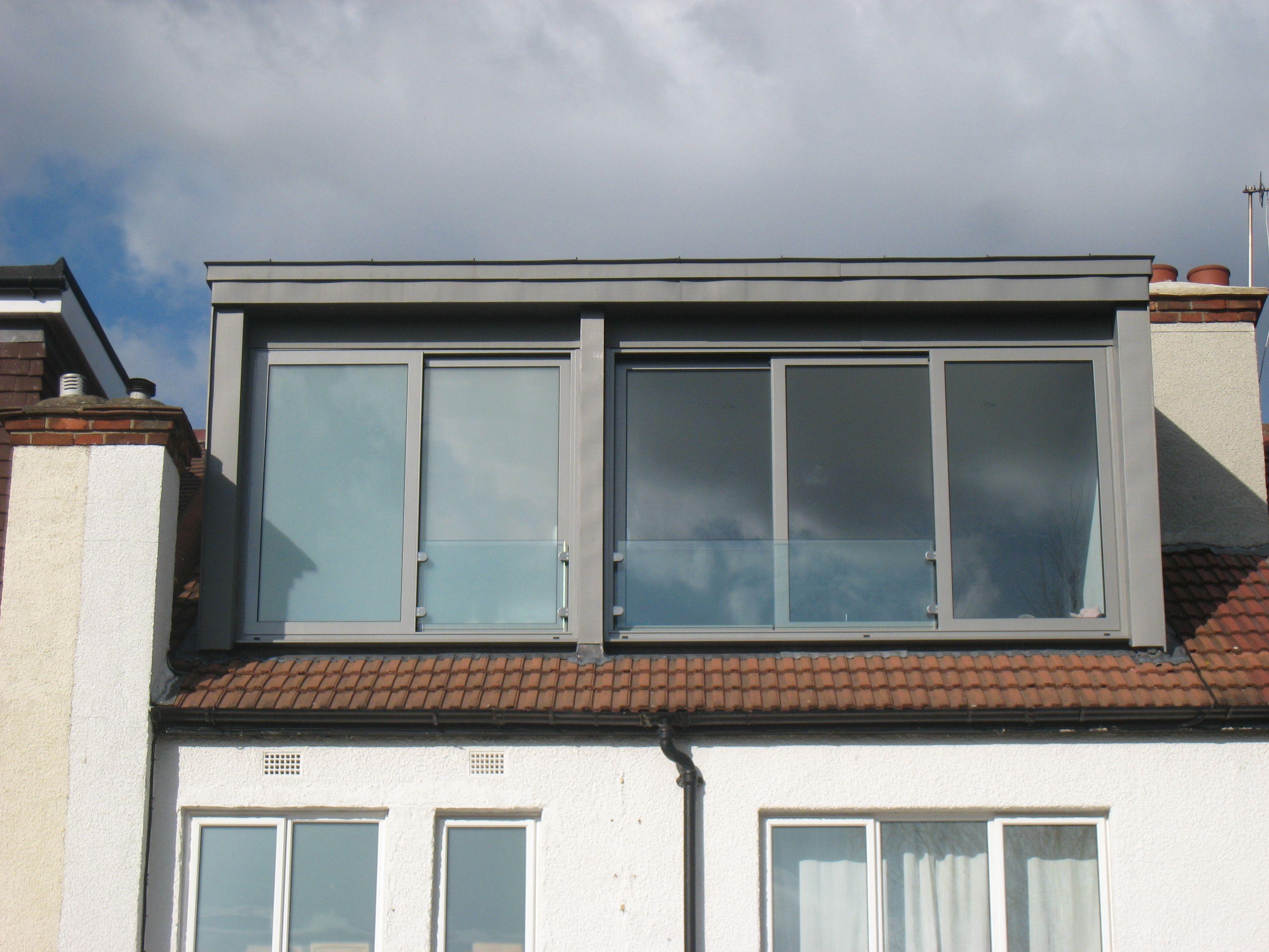 Our Zinc Clad Loft With Sliding Aluminium Framed Windows Great Views Out Over South London Lots Loft Dormer House Extension Design Dormer Loft Conversion