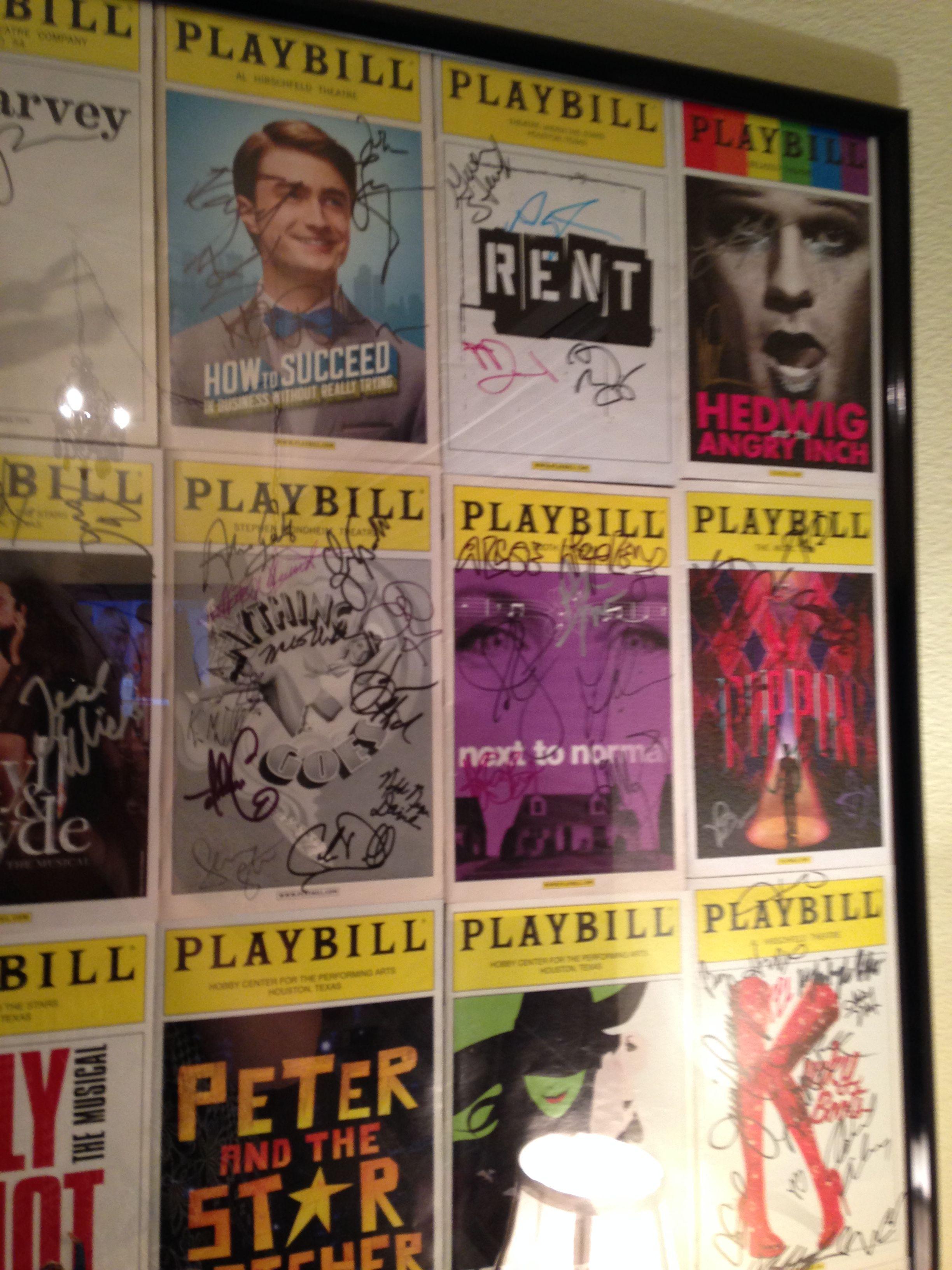 Playbills framed for broadway room sarah jane 39 s lake for Broadway bedroom ideas
