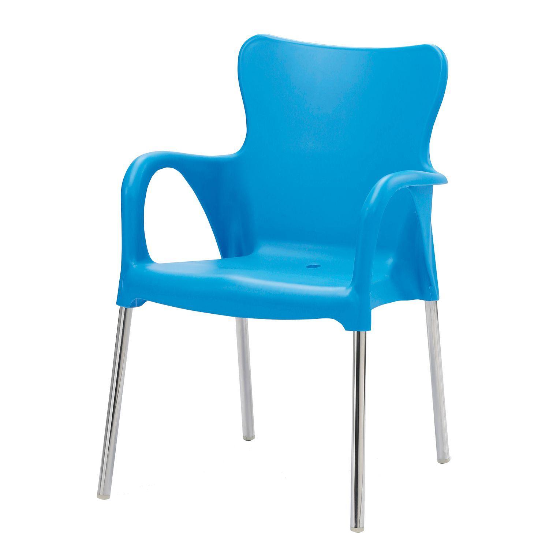 Gartenstuhl Maui Uni - Kunststoff / Aluminium - Hellblau, Best ...