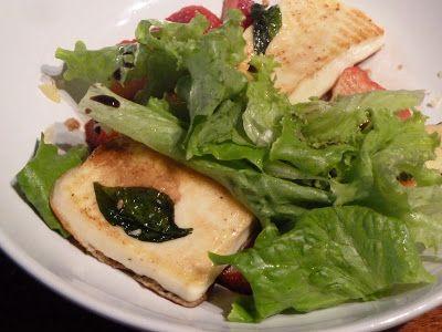 Salade de fraises et halloumi grillé par Laureli #battlefood