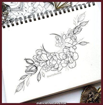 Idee per tatuaggi luna di fiori migliori eleganti #tatuaggi