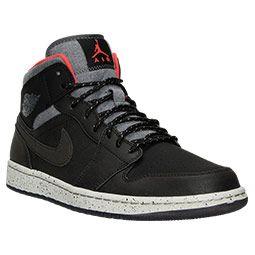 Mens Air Jordan Retro 1 Mid Prm Retro Basketball Shoes Finish Line