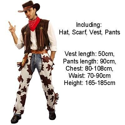 Halloween Party Cowboy Costume For Adult Men and Women Cowgirl Cosplay Western Dress Suit Carnival Adult Costumes #cowboysandcowgirls