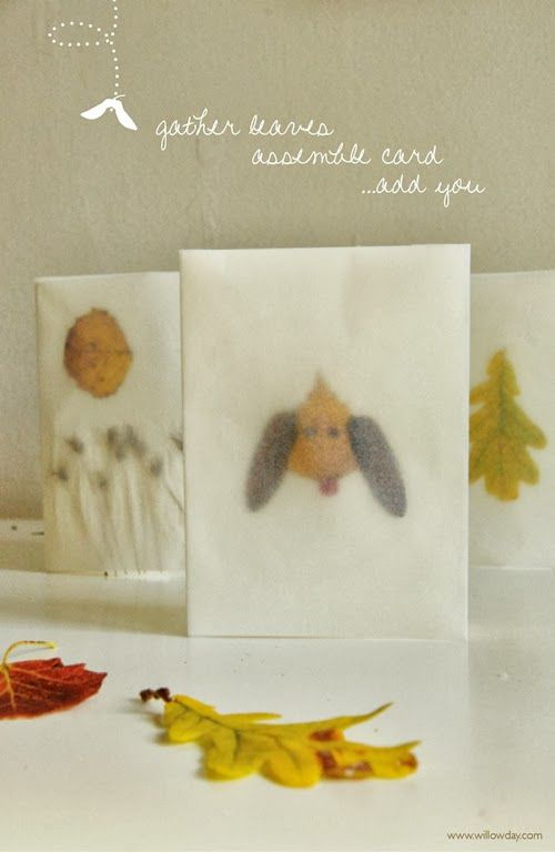 Willowday Tracing Paper Leaf Cards Craft Ideas Paper Leaves