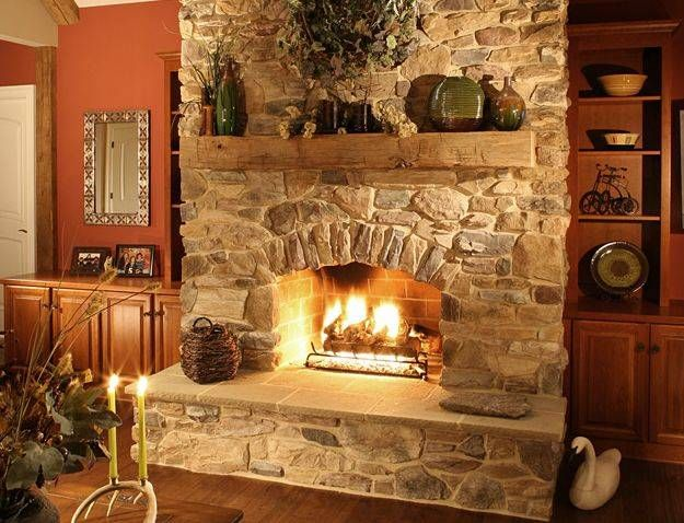 Cozy Stone Fireplace Surrounds | Stone fireplaces
