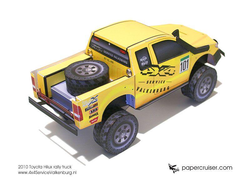 Photo of Neues Rallye-Truck-Papiermodell: 4 × 4 Service Valkenburg