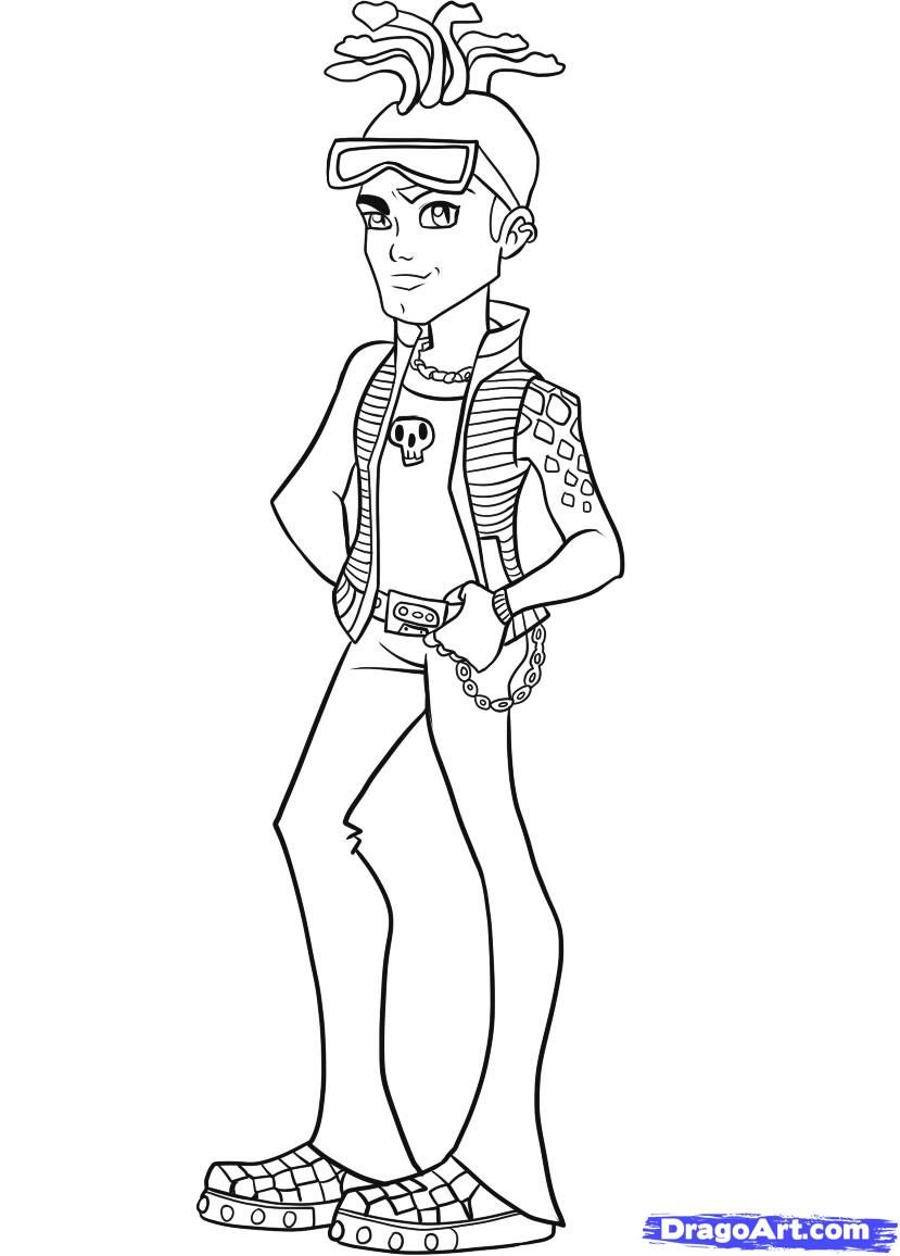 Monster High Coloring Pages Printable : Monster High Frankie Stein ...