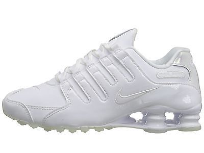 47abca322a8 Nike Shox NZ Womens 636088-115 White Tint Patent Leather Running Shoes Size  7