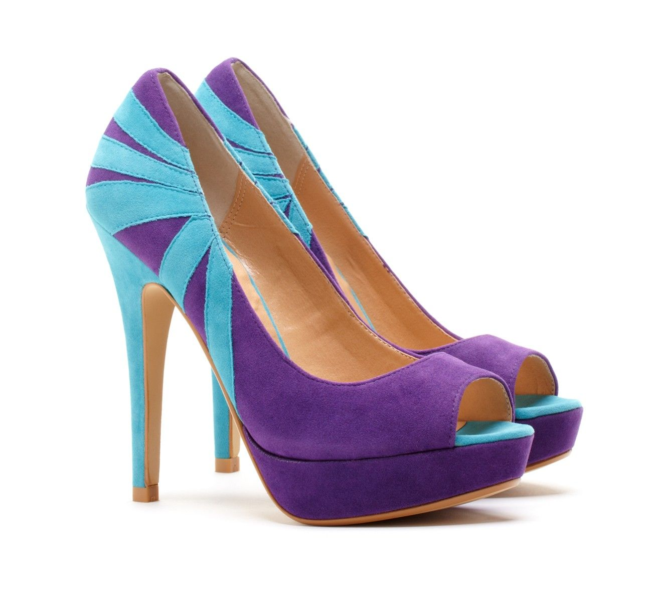 Blue Purple Heels