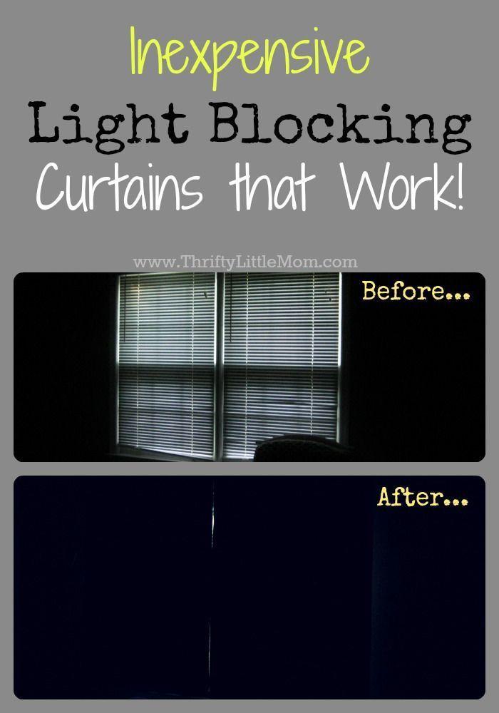 Inexpensive Quot Light Blocking Quot Curtains That Work Diy