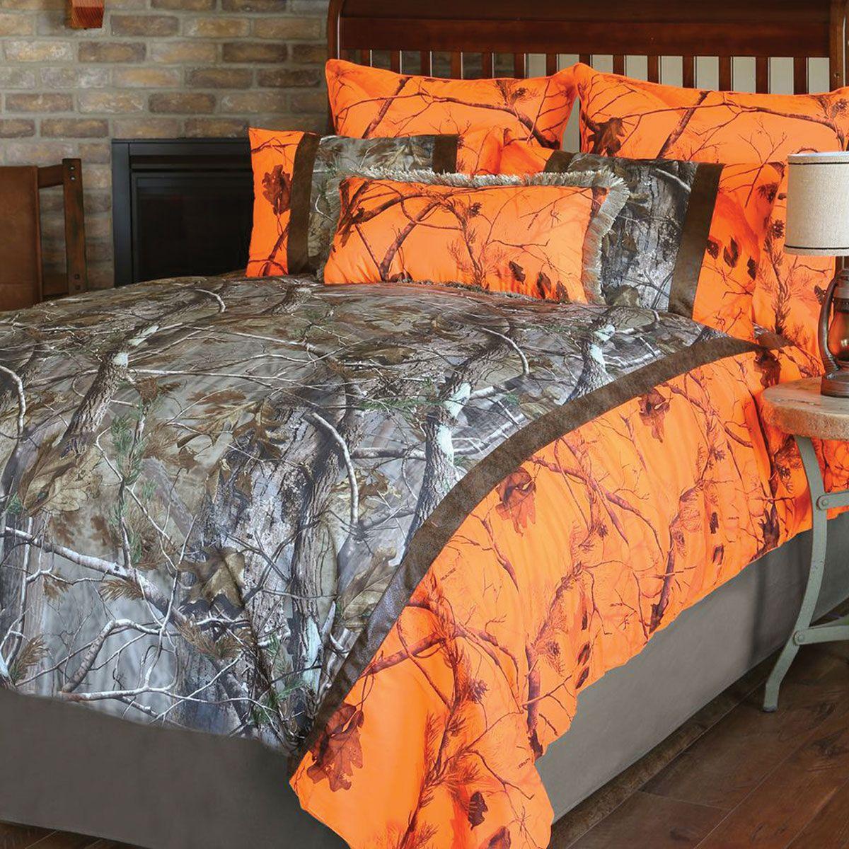 Realtree Ap And Orange Blaze Ap Camo Bed Set Queen