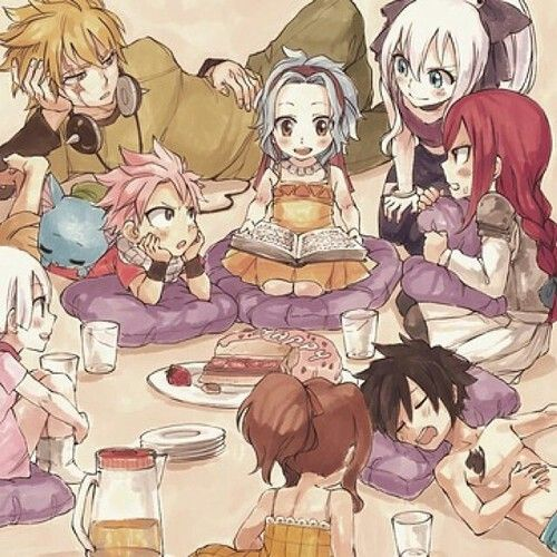 Fairy Tail When They Are Kids There Are Laxus Levy Mirajane Natsu Happy Erza Lisana Kana And Grey Fairy Tail Ships Master.lucy said and started crying. pinterest