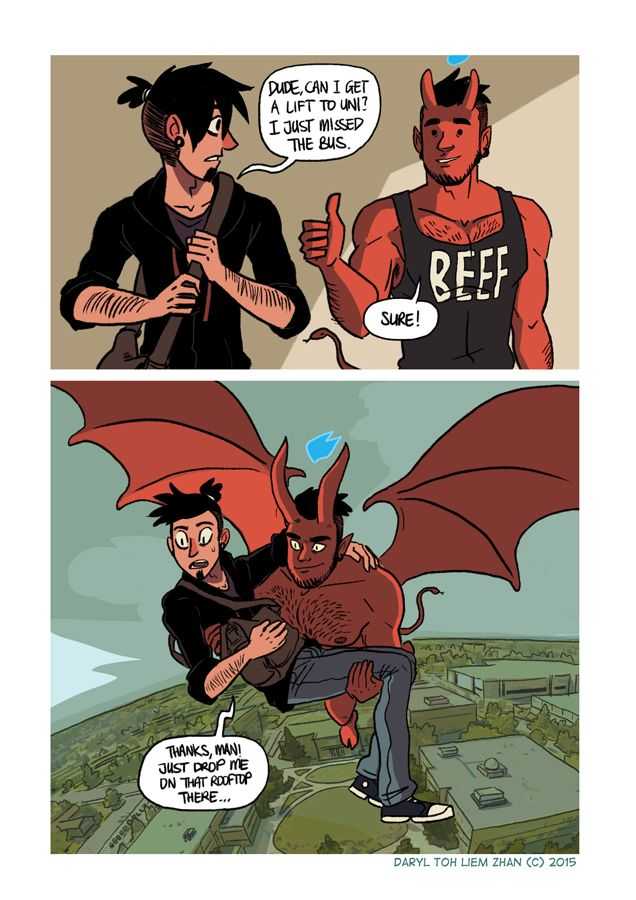 gay demon comic