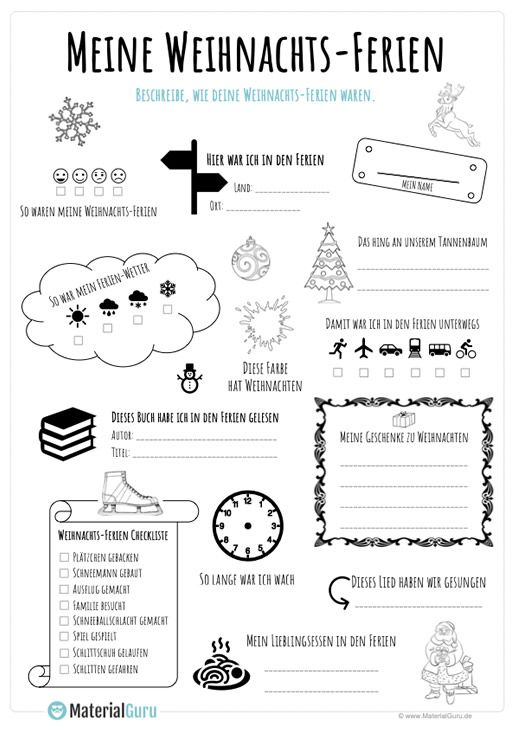 Weihnachtsferien Steckbrief