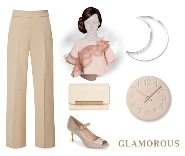 """""""Glamorous"""" by petiteorange ❤ liked on Polyvore featuring Marc Jacobs, Delpozo, Lemnos, Calvin Klein, Christian Louboutin, Pink, marcjacobs, ruffle, ck and anklewidepant"""