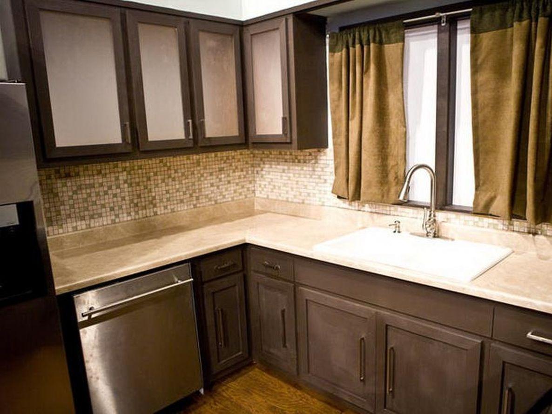 Kitchen:Kitchen Drapes Mosaic Tile Backsplash Laminate Flooring ...