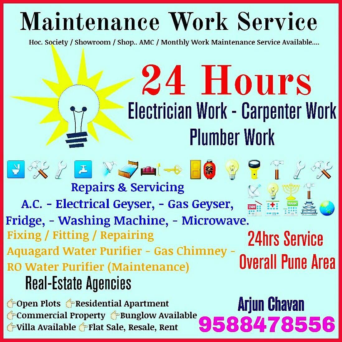 saisadhanaservices #Electrician #plumber #carpenter #Maintenance ...