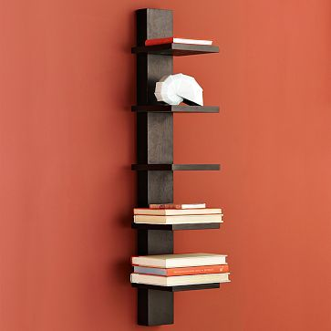 Spine Wall Shelf For Narrow Spaces Wall Bookshelves Narrow Wall
