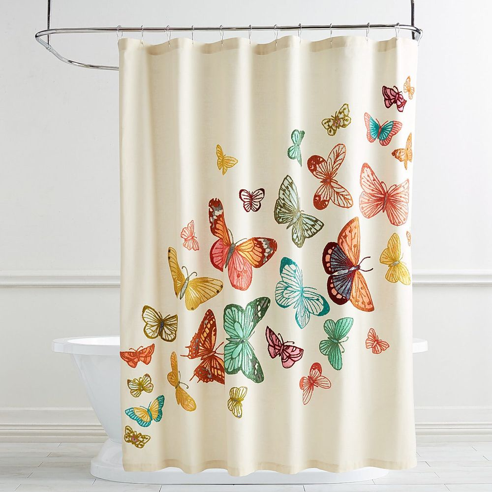 Playful Butterflies Shower Curtain With Images Butterfly