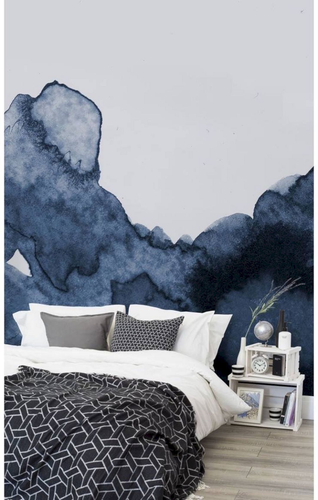 Best 45 Beautiful Bedroom Wallpaper Decorating Ideas For Your 640 x 480