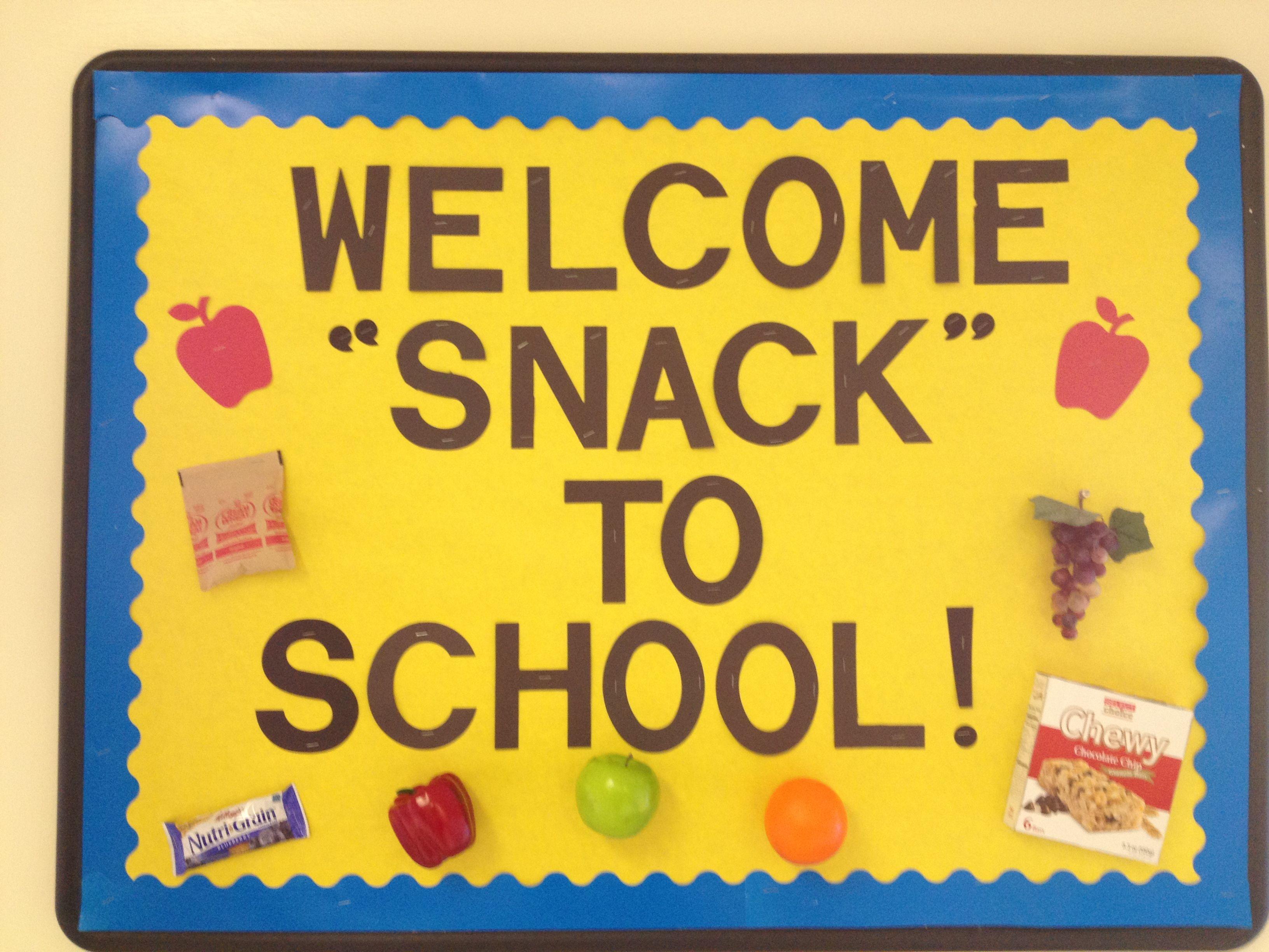 """snack"" to school September School nurse office"