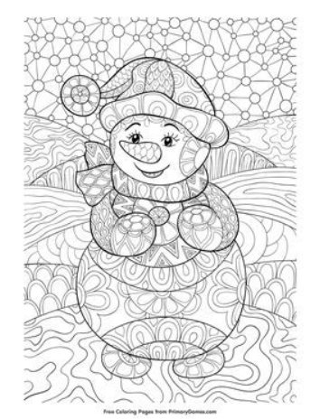 Winter Coloring Pages  Coloring pages winter, Snowman coloring