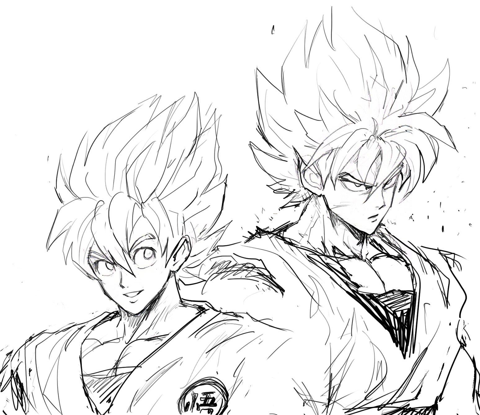 Goku par Yusuke Murata (One Punch Man) | DragonBall , Z , GT, Kai ...