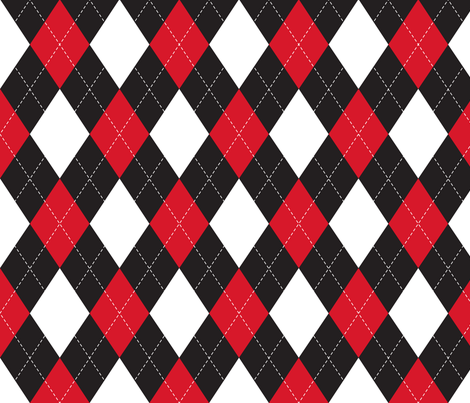 Colorful Fabrics Digitally Printed By Spoonflower Black White And Red Argyle Floral Pattern Wallpaper Cute Patterns Wallpaper Argyle