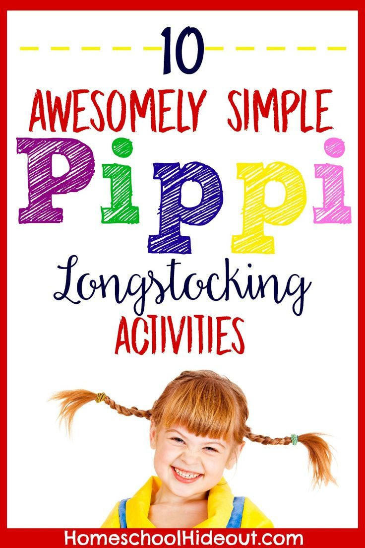 Pippi Longstocking Activities   Activities, Homeschool and Reading ...
